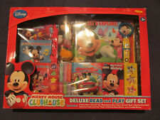 Mickey Mouse Clubhouse Deluxe Read and Play Gift Set Disney Book Toy New Nip