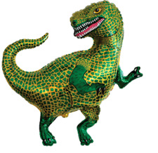 "TYRANNOSAURUS REX T REX SUPERSHAPE BALLOON DINOSAUR PARTY 33"" FOIL BALLOON!"