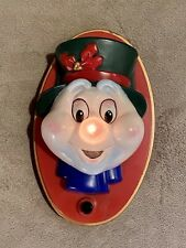 Vintage Christmas Talking Snowman Door Greeter - Toy State - Sound and Light