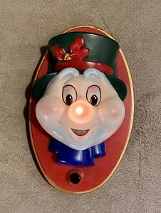 Vintage Christmas - Talking Snowman Door Greeter - Sound and Light work great