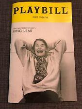 Shakespeare's King Lear Playbill Broadway NYC Glenda Jackson 2019