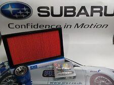 SUBARU IMPREZA 2.0 TURBO GENUINE SERVICE KIT OIL AIR SPARK PLUGS WRX STI RB5 MK1