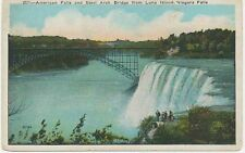 Canada/Usa 1920 Vfu col pc American Falls and Steel Arch Bridge from Luna Island