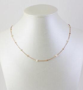 Girocollo, collana da donna in Oro Rosa 18 kt e Perle coltivate e Zirconi