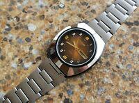 Vintage Citizen 21 Jewels Automatic BLPD 6501 Alloy Case Blackie March 1975