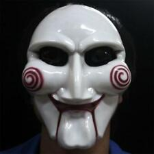 Party Saw Jigsaw Puppet Face Mask Horror Dress Up Halloween Cosplay Costumes