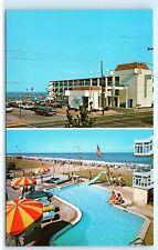 *The Sea Gull Motel Ocean Front 27th St Virginia Beach VA Vintage Postcard C02