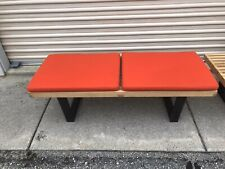"HERMAN MILLER GEORGE NELSON 24"" FABRIC BENCH CUSHION AUTHENTIC ORANCE"