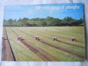 """@Massey Ferguson Plough Brochure """"New Range of Ploughs""""@"""