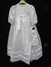 b42ddd5cc407 NWT Sarah Louise Girl s White Hand Emb Christening Baptism Gown w Hat Sz.