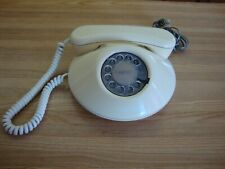 VINTAGE 1980 NORTHERN TELECOM DAWN WHITE ROTARY TELEPHONE MADE IN CANADA