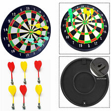 """KIDS MAGNETIC WALL DART BOARD 16-18"""" W/ 6 DARTS CHILDREN TOY PLAY GAME OUTDOOR"""