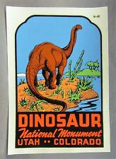 Lindgren-Turner Dinosaur Nat'L Monument water slide travel decal rat rod! Mip ^