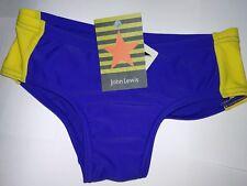 JOHN LEWIS Boy's Swim Trunks - Blue/Yellow Size Age 8 Yrs RRP £12.50! NEW!!