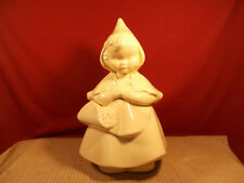 Vintage Hull Little Red Riding Hood All White Cookie Jar #967 Imperfect 13""