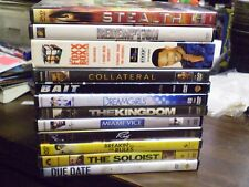 (14) Jamie Foxx DVD Lot: Bait Collateral Ray Redemption Due Date Miami Vice MORE