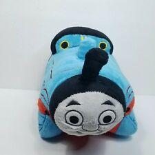 "Thomas the Train Pillow Pet PeeWee Blue Red #1 Pillow Soft 13"" x 11"" Cute"