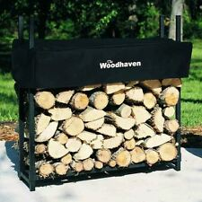 Woodhaven 3' Firewood Rack and Standard Cover in Brown