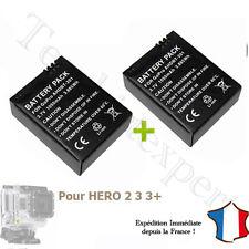 LOT de 2 BATTERIES pour GOPRO HERO 3 et 3+ - AHDBT-301 Black White Silver HD