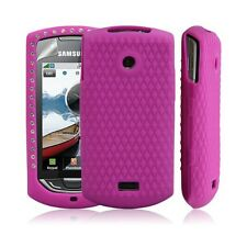 Silicone pour samsung S5620 Player Star 2 diamant couleur rose fushia + film pro