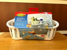 3M COMMAND SHOWER CADDY STORAGE WITH WATER-RESISTANT STRIPS BATH DAMAGE FREE