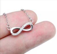 Brighton Infinity Heart Silver Necklace with Swarovski Crystals