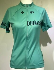 New PEARL IZUMI Women Select Escape Short Sleeve Cycling Jersey QUEBEC Custom