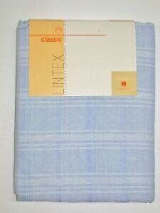 "Lintex Tablecloth ~ Blue & White Plaid ~ 60"" x 84"" Rectangular **NEW**"