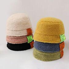 New Cute Baby Girl Boy Toddler Winter Warm Lambwool Hats Thickened Bucket Caps