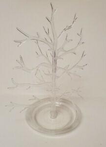 Vintage 1960s Gumdrop Tree Clear Plastic 3 Piece Christmas Ornaments EUC