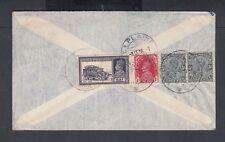INDIA 1938-39 THREE GEORGE VI COVERS TO LA PLAINE SWITZERLAND