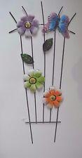 """Outdoor Metal Climbing Flower Garden Pot Stake Holder Butterfly Flower 22""""h #48"""