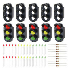 10 sets Target Faces With 3-LEDs for 1:150 Railway Signal N Z Scale 3 Aspects