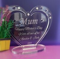 Personalised Heart with Message for Mum: Mother's Day, Birthday, Christmas Gift