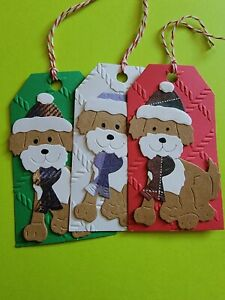 Christmas Gift Tags with strings (6) gift tags cardstock