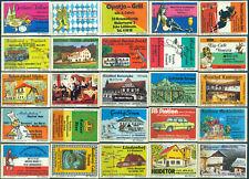 25 alte Gasthaus-Streichholzetiketten aus Deutschland #909