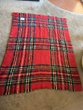 VINTAGE ST ALBANS  MOHAIR Couch Bed Blanket Throw  64 x 47