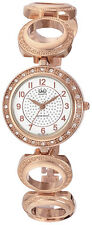 Q&Q by Citizen F341-004Y Women's Crystal Embellished Rose Gold Tone Watch $99