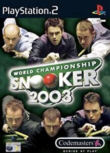 World Championship Snooker 2003 - PS2 - Sony PlayStation - Promo Copy/Full Game