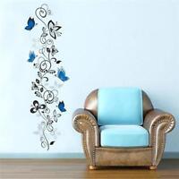 Wall Decals Vinyl Art Stickers Flower Vine&Butterfly Living Room Mural Decor DB