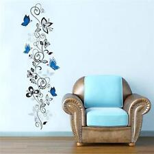 Flower Vine & Butterfly Living Room Mural Decor Wall Decals Vinyl Art Stickers D
