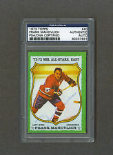 Frank Mahovlich signed Montreal Canadiens 1973 Topps hockey card Psa/Dna
