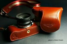Handmade Full Real Leather Camera Case Bag Cover for Samsung NX210 NX200