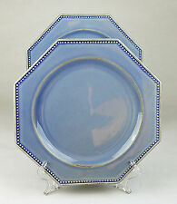 Set of 2 Dinner Plates, NEAR MINT! Octagonal Blue, Pottery Barn, Portugal