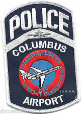 """Columbus - Airport Police, GA  (3"""" x 4.5"""" size)   shoulder police patch (fire)"""