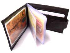 NEUF cuir marron foncé carte de crédit Support Porte-feuille Photo ID