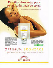 PUBLICITE  ADVERTISING  1998   INSTITUT  ESTHEDERM optimum bronzage