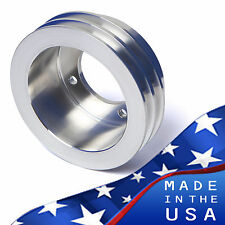 Billet Aluminum Oldsmobile Crankshaft Pulley V-Belt 350 455 Crank 2V Chrome Olds