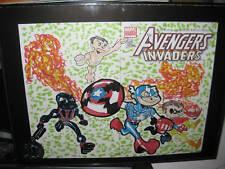 AVENGERS / INVADERS #1 W/ INVADERS SKETCH KEVIN GREAVES Original Art