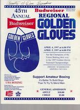 45th ANNUAL REGIONAL GOLDEN GLOVES BOXING TOURNAMENT PROGRAM APRIL 1997
